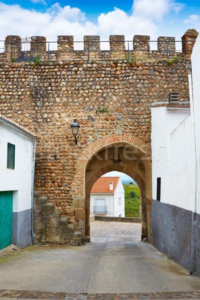 Galisteo village in Caceres of Extremadura Stock photo © lunamarina