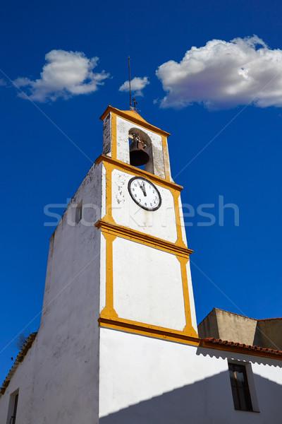 Echt la manier klok toren Spanje Stockfoto © lunamarina