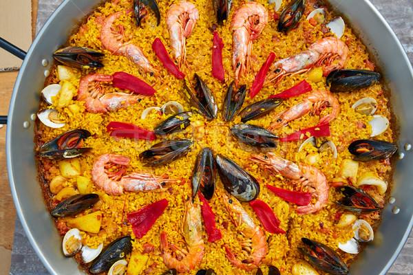 Frutos do mar Espanha Valência receita comida fundo Foto stock © lunamarina