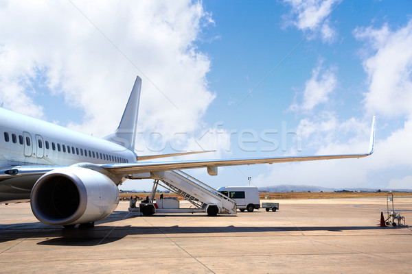 Aircraft airplane in Airport landed Stock photo © lunamarina