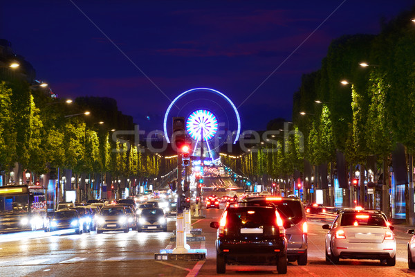 Champs Elysees avenue in Paris France Stock photo © lunamarina