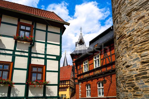 Hegyek Németország nyár kék utazás Európa Stock fotó © lunamarina