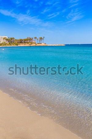 Cancun caribbean sea beach shore turquoise Stock photo © lunamarina