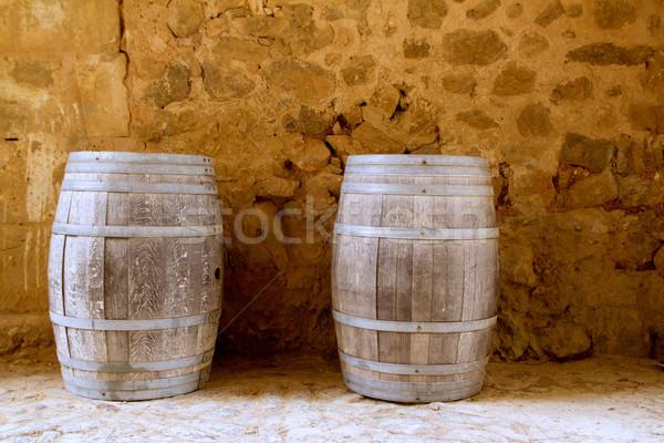 Vino roble madera España piedra albañilería Foto stock © lunamarina