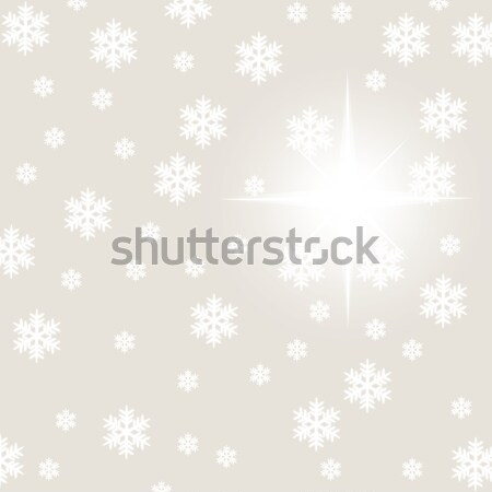 christmas snowflake and stars illustration Stock photo © lunamarina