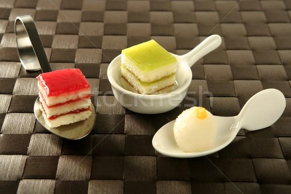Pastries over spoon Stock photo © lunamarina