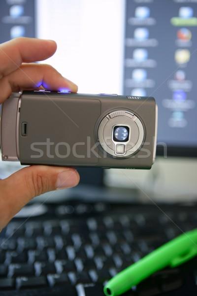携帯電話 カメラ コンピュータのキーボード 画面 スクリーンショット コンピュータ ストックフォト © lunamarina