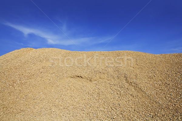 Stock photo: concrete yellow gravel sand quarry mountain