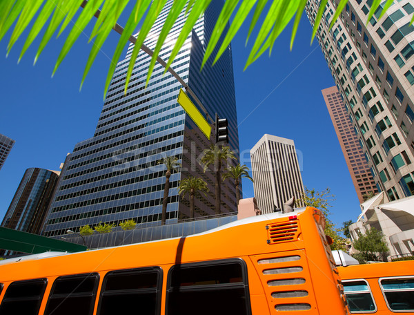 Centrum la Los Angeles skyline Californië verkeer Stockfoto © lunamarina