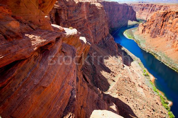 アリゾナ州 コロラド州 川 馬蹄 ストックフォト © lunamarina