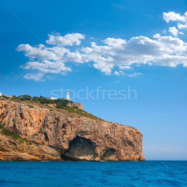 La latarni morze Śródziemne morza krajobraz górskich Zdjęcia stock © lunamarina
