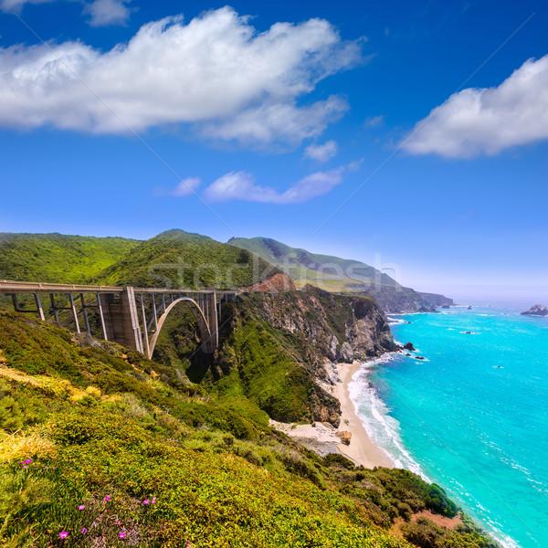 Сток-фото: Калифорния · моста · большой · маршрут · пляж · весны