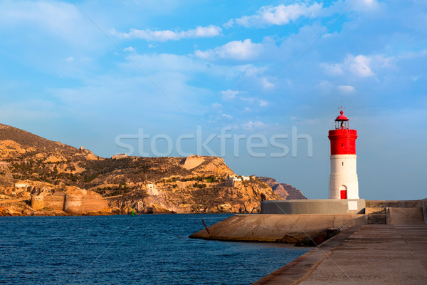 Beacon Cartagena lighthouse in Spain Stock photo © lunamarina