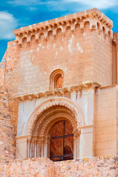 Romano anfiteatro Espanha edifício porta pedra Foto stock © lunamarina