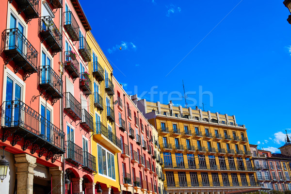Burgos Plaza Mayor square in Castilla Spain Stock photo © lunamarina