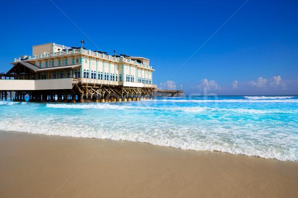 Plage Floride pier USA eau Photo stock © lunamarina