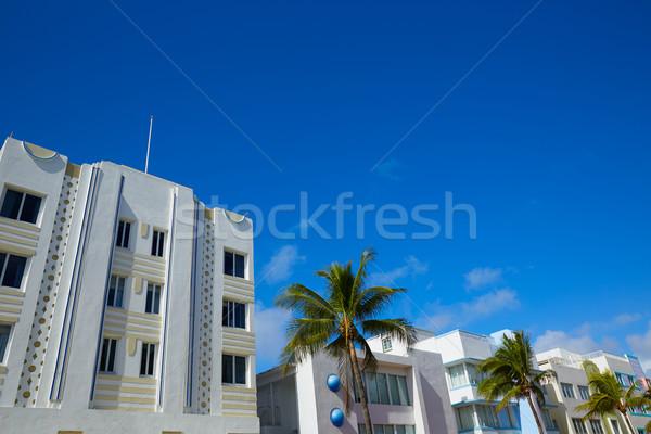 Miami tengerpart óceán art deco Florida kerület Stock fotó © lunamarina