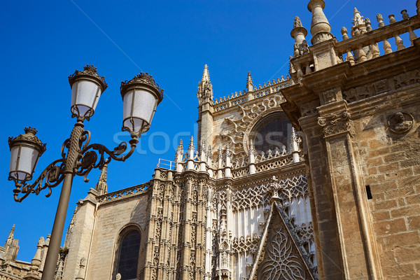 Seville cathedral Saint Christopher door Spain Stock photo © lunamarina