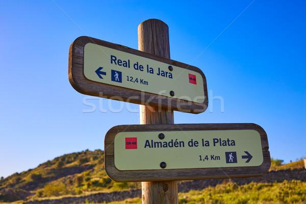 Via de la Plata way in Spain track signs Almaden Stock photo © lunamarina