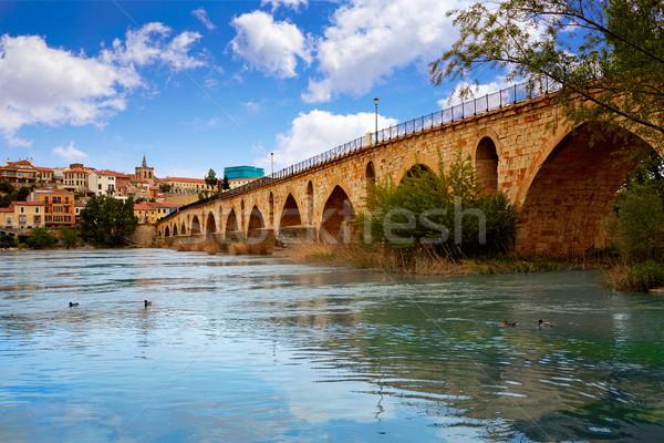 Zamora Puente de Piedra bridge on Duero river  Stock photo © lunamarina