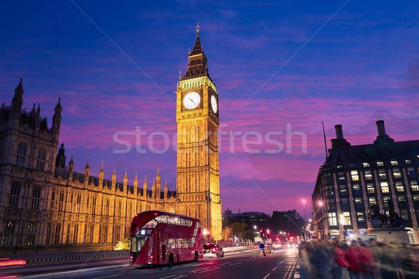 большой Бен часы башни Лондон Англии небе Сток-фото © lunamarina