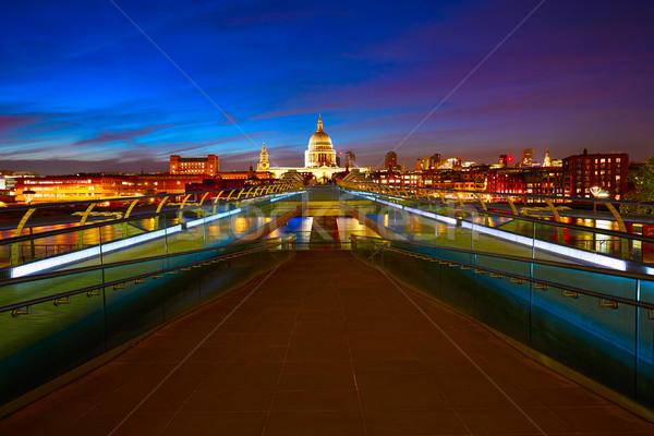 London Millennium bridge skyline UK Stock photo © lunamarina