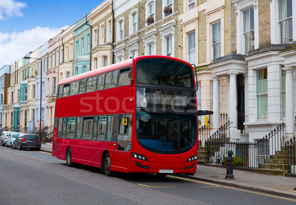 London bus near Portobello road in UK Stock photo © lunamarina