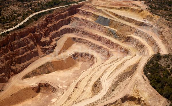Aerial view of a quarry in Valencia Spain Stock photo © lunamarina