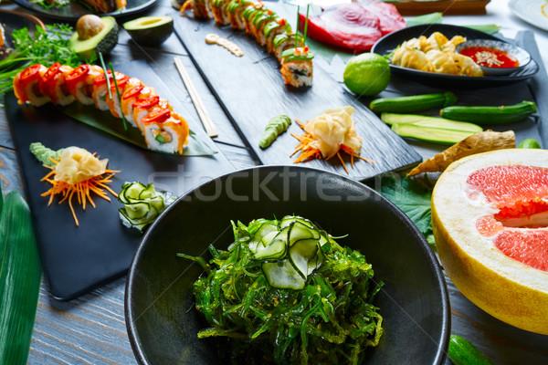 Asian Japan sushi recepten voedsel keuken Stockfoto © lunamarina