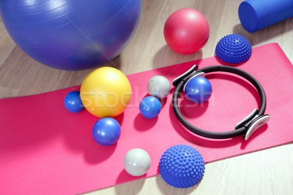 Pilates estabilidad anillo estera de yoga deporte Foto stock © lunamarina