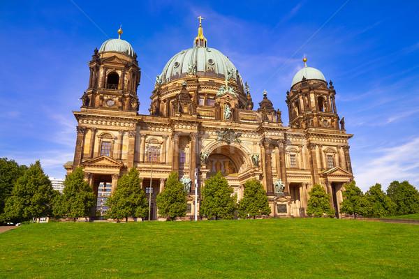 Berlim catedral Alemanha céu edifício arte Foto stock © lunamarina