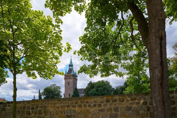 Quedlinburg tower in Harz of Saxony Germany Stock photo © lunamarina