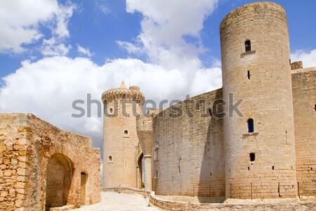 Kastély Mallorca torony építkezés fal híd Stock fotó © lunamarina