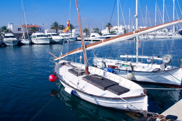Llaut traditional latin sail boat in Formentera Stock photo © lunamarina