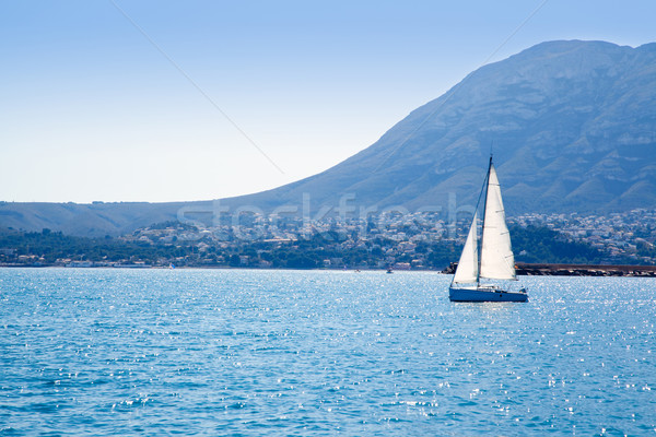 sailboat sailing in Mediterranean sea in Denia Stock photo © lunamarina