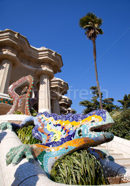 Dragon salamandra of gaudi  in park guell Stock photo © lunamarina