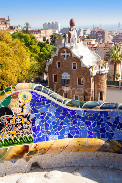 Barcelona Park Guell of Gaudi modernism Stock photo © lunamarina