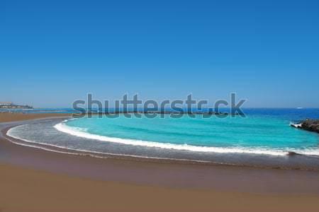 Stockfoto: Kust · strand · zuiden · tenerife · hemel