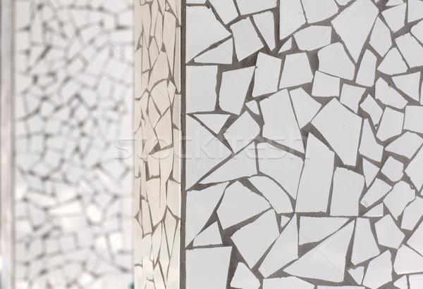 broken tiles mosaic trencadis typical from Mediterranean Stock photo © lunamarina