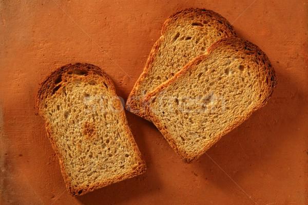 焼いた パン スライス オレンジ 粘土 食品 ストックフォト © lunamarina