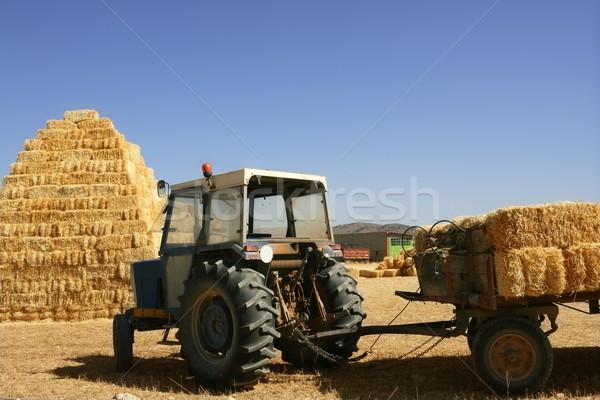 納屋 農業 トラクター 車両 ストックフォト © lunamarina