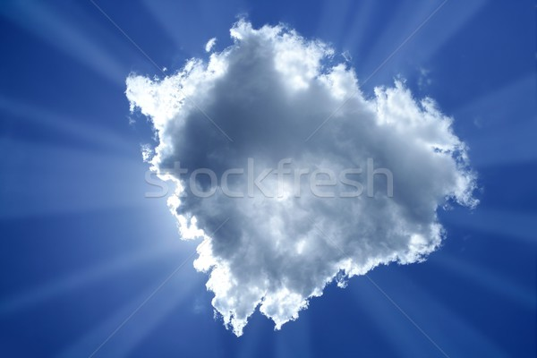 beam sun cloud backlight magic light blue sky  Stock photo © lunamarina