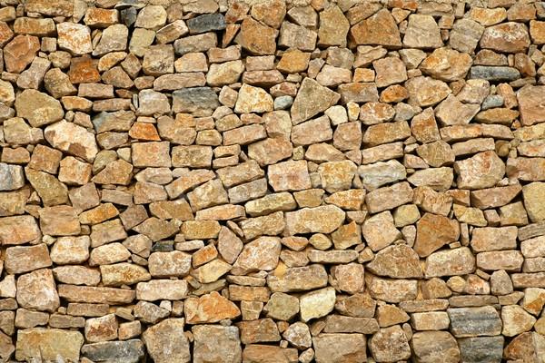 Foto stock: Dourado · alvenaria · stonewall · antigo · edifício · parede · abstrato