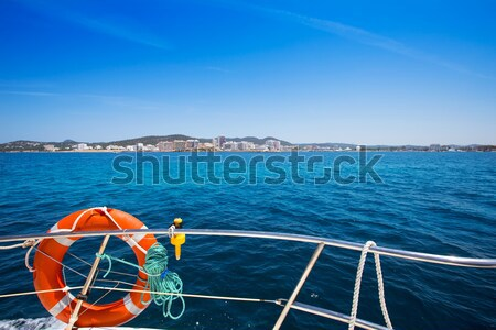 Boating in Ibiza with Es Vedra y Vedranell islands Stock photo © lunamarina