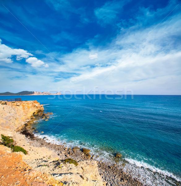 Ibiza Sa Caleta beach in south San Jose at Balearic Stock photo © lunamarina