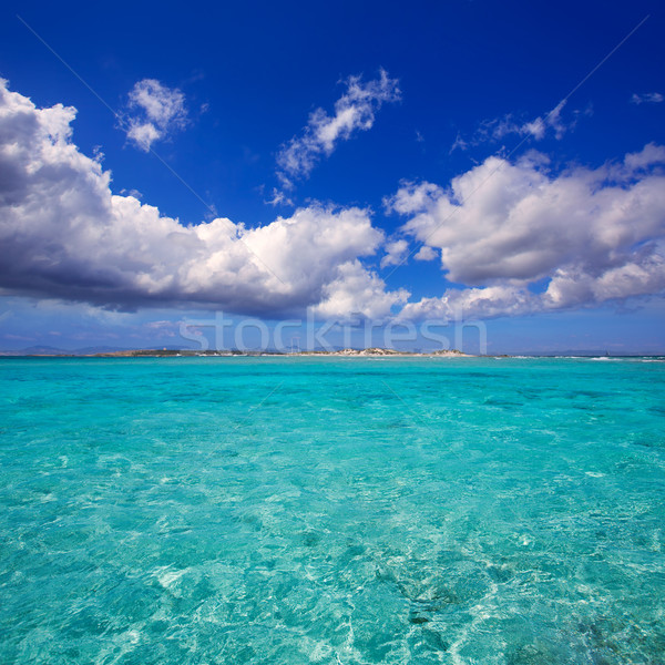 Formentera channel between Illetes and Espalmador island Stock photo © lunamarina