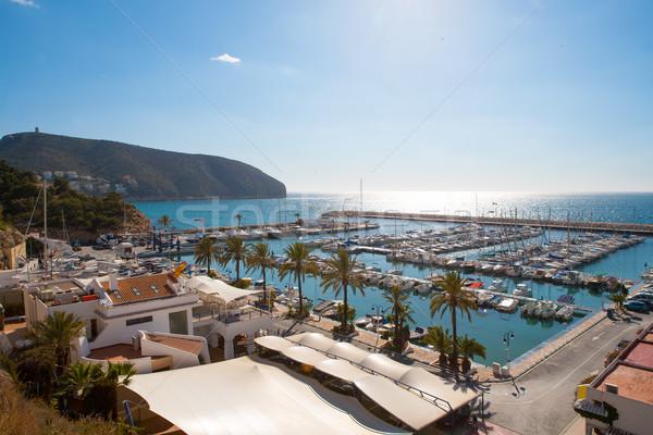 Marina portu wysoki morze Śródziemne widoku Zdjęcia stock © lunamarina