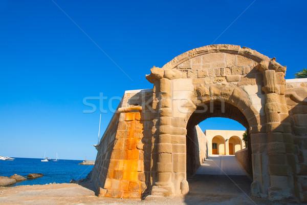 Tabarca Puerta de San Miguel de Tierra fort door arc Stock photo © lunamarina