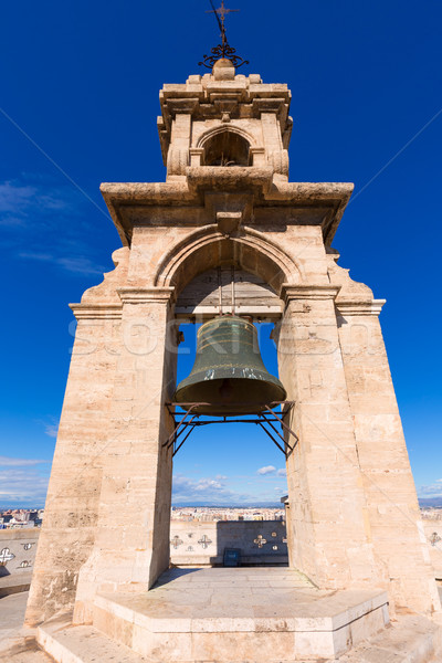 Valencia Miguelete belfry tower Micalet in Spain Stock photo © lunamarina