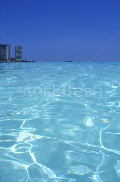 Caribbean sea blue turquoise water in Cancun Stock photo © lunamarina